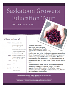 Saskatoon Growers Education Tour